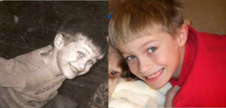 David on the left, age 8. Ryan on the right, age 8